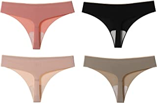 4 pcs Underwear Woman Sexy Panty Female T back Solid Color Soft G String Female Low Waist Breathable Thin Thong Lingerie M...