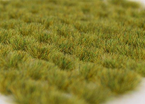 War World Scenics 6mm Sommer Selbstklebende Statische Grasbüschel x 100 - Modellbau Modellbahn Landschaftsbau Diorama Miniatur Tabletop Spiele Wargame Modelleisenbahn Geländebau