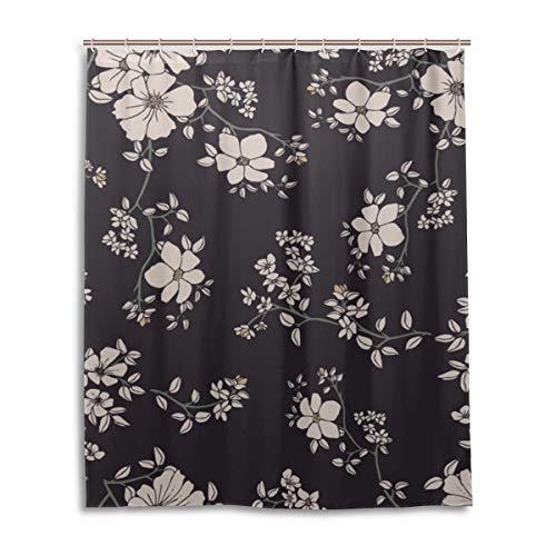 JSTEL Decor Rideau de Douche 100% Polyester Motif Floral 152 x 183 cm
