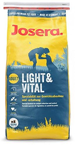 JOSERA Light & Vital, Hundefutter mit niedrigem Fettgehalt, Super Premium Trockenfutter für ausgewachsene Hunde, 1er Pack (1 x 15 kg)