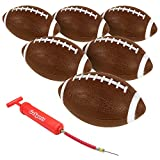 "GoSports Xtreme Flight Footballs 6 Pack, 9"" Rubber Inflatable Footballs"