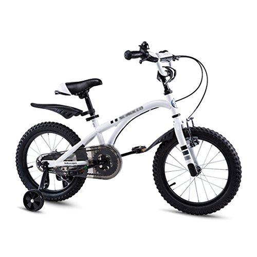 Brilliant firm Bicicletas Bicicletas para niños Bicicletas para niños Volkswagen 12,14,16 Bicicletas para niños (Color : Blanco, Size : 12 Inches)