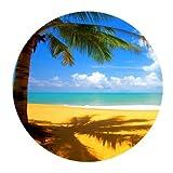 Alfombrilla para ratón–Tropical Hawaii playa palmera sol de verano...