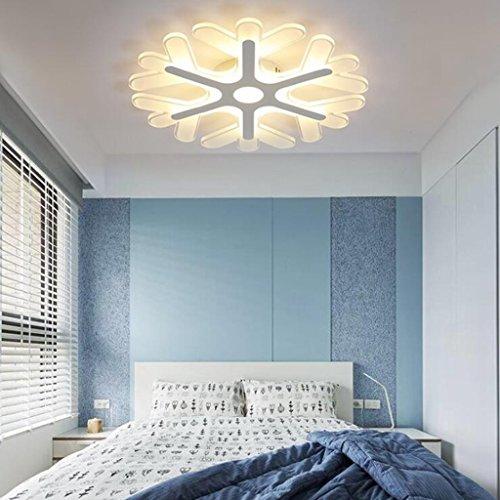 BiuTeFang LED plafonnier moderne personnalité flocon de neige lumières de chambre enfants luminaires d'intérieur de plafond lampes lumière chaude 60cm 52W
