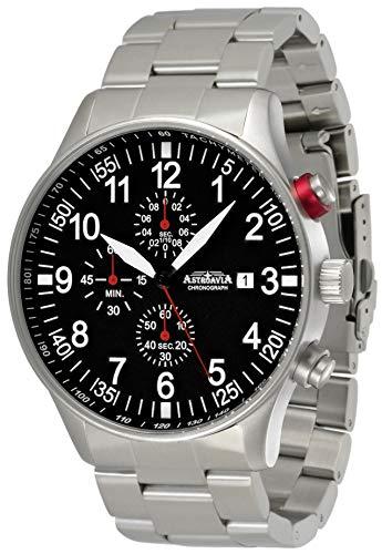 Astroavia Reloj cronógrafo de cuarzo para hombre color negro Chronograph N57S