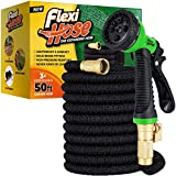 Flexi Hose with 8 Function Nozzle, Lightweight Expandable Garden Hose, No-Kink...