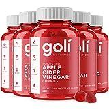 Goli Nutrition Inc. Vitaminas gomosas de vinagre de sidra de manzana (60 unidades, orgánico, vegano, sin gluten, sin OGM, con vitamina B9, B12, remolacha, granada) Pack de 5