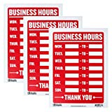 Bazic Small 9 x 12 Inches Business Hours Sign, Pack of 3 (S-23)