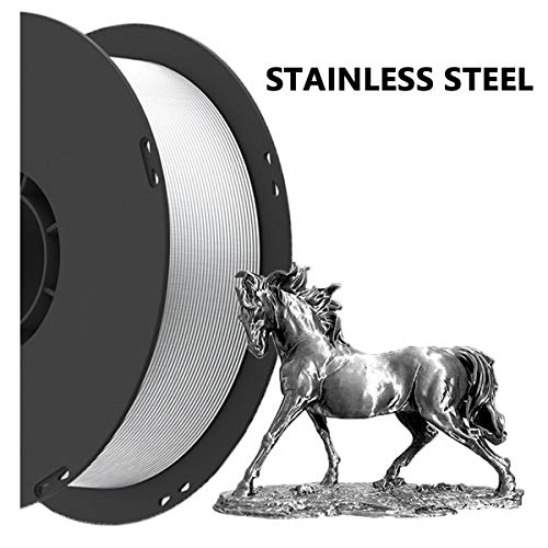 Hello PETG Filament 1.75mm,Stainless Steel Filament 1.75mm 3D Printing Filament,Stainless Steel Appearance and Texture, 1kg