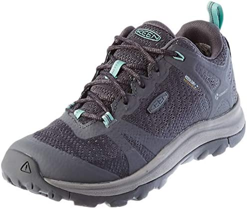 KEEN womens Terradora 2 Waterproof Low Height Hiking Shoe Steel Grey Ocean Wave 9 US product image