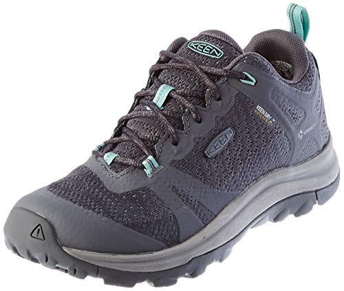 KEEN womens Terradora 2 Waterproof Low Height Hiking Shoe, Steel Grey/Ocean Wave, 9 US