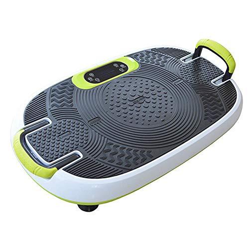 WYYH Vibrationstrainer, 3D Vibrationstrainer Vibrationsplatte Bluetooth Vibrationsplatte Fitness, LCD-Hand-Touchscreen Laterne Dünnschnitt Fauler Handlauf, Intelligent Heimfitnessgerät