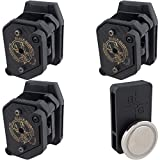 Black Scorpion Gear Competition Mag Pouches with Magnetic Mag Carrier fits Single and Double Stack 9mm .40 Magazines | 3Gun IPSC and USPSA Approved 4 pcs
