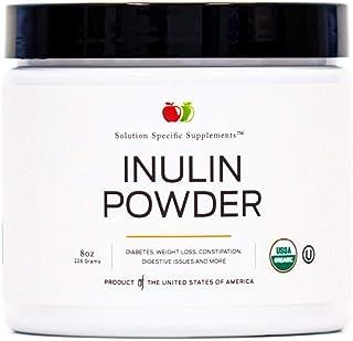 Pure Organic Inulin Powder Fiber Supplement - (Jerusalem Artichoke) Prebiotic Bulk Inulin Fiber Powder 8oz Digestion & Gut...