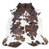original cowhide Rug Genius Leather Hair on Hides Decorative Value Rare Giant Size Approx 7X8 ft (56-66 sqf) (Tircolor)