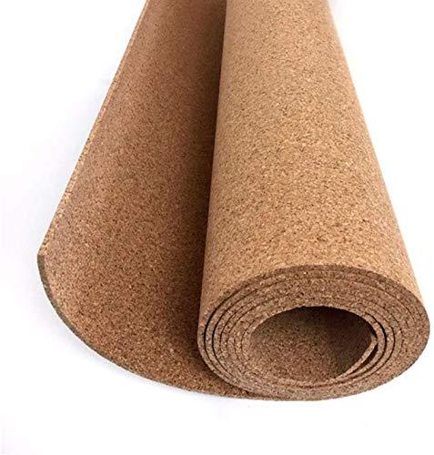 Corcho en rollo de 5 mm de espesor. Venta por metros. Aislamiento acústico y térmico, tablón de anuncio para pared, antiestático para suelos. (8 X 1.22 M)