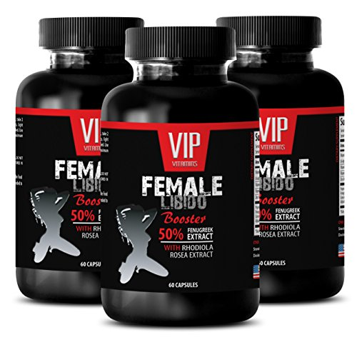Female Sexual libido Enhancement Pill - Female LIBIDO Booster - 50% Fenugreek Extract with RHODIOLA ROSEA Extract - longjack Root Extract - 3 Bottles 180 Capsules