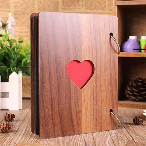 MYSdd 6 inch Commemorative Wooden Cover Album Craft Baby Growth Love Gift Album - Wood Color
