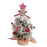 AGAWA 30cm Escritorio Mini Navidad Ãrbol Navidad Ãrbol Adornos para Hogar Oficina Navidad Fiesta