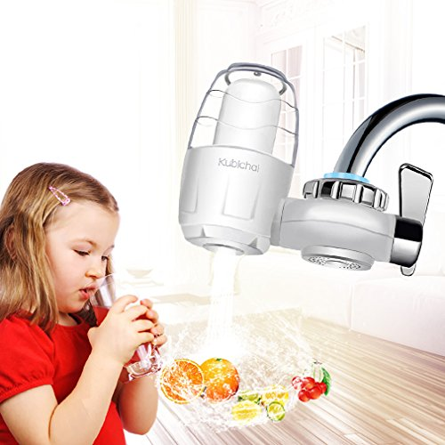 Faucet Water Filter,Water Purifier 7 Stage Water Filtration ABS System For All Fits Water Filter Faucet Mount
