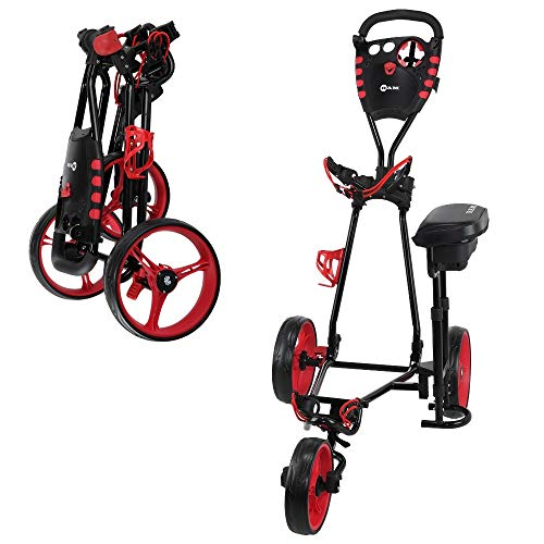 Ram Golf X-Pro Laser 3 Wheel Golf Pull Cart with Seat