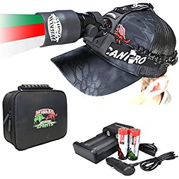 Wicked Lights ScanPro iC GEN2 3-Color-in-1  Green Red White LED  Night Hunting Headlamp Kit with Intensity Control for Coyote Predator Varmint & Hogs
