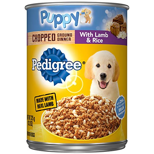 Pedigree Puppy Chopped Ground Dinner with Lamb & Rice Canned Wet Dog Food