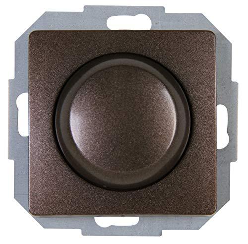 Kopp 843426083 Druck-Wechsel-Dimmer, palisander-braun, LED