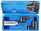 Oxygen Sensor Socket Remover Tool Set - 3 Piece Universal o2 Sockets Wrench Tool Kit - 7/8...