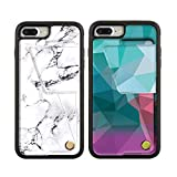ZVEdeng Printed Wallet Case for iPhone 8 Plus 7 Plus Credit Card Holder Case Shockproof PU Leather Phone Case Rotational Magnetic Flip Case for Women Men