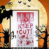 WeyTy Halloween Adesivo per finestra horror, Sangue stampato a mano, Adesivo da parete rim...