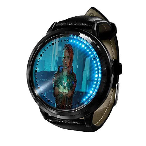 Cyberpunk Series Reloj Reloj para Hombre Cuarzo Casual Fashion LED Anime Resistente al Agua Watches de Pulsera con luz Digital Unisex Cosplay C