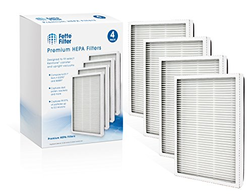 Fette Filter - 4 Pack of 86889 HEPA Filters Compatible with EF-1 Sears Kenmore Vacuums & Panasonic Uprights Vacuums (Compares to MC-V199H)