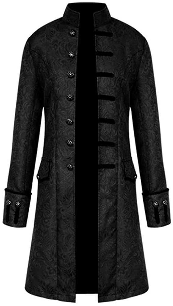 Allywit Men's Long Oversized Kimono Vintage National Style Cardigan Jacket Coat