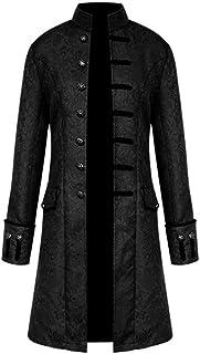 FNKDOR Jacket Coat Men Steampunk Vintage Tailcoat Buttons Jacket Overcoat Outwear Tops for Winter Autumn