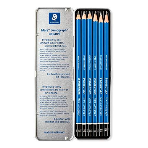 ステッドラー鉛筆ルモグラフ製図用6硬度缶ケース100G6