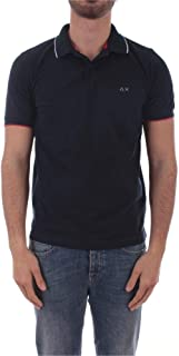 SUN 68 Luxury Fashion Mens A3010607 Blue Polo Shirt |