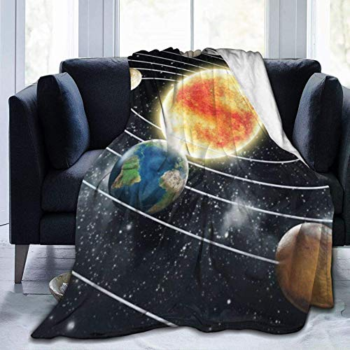 Throw Blanket Bed Blankets Throw Rug Outer Space Twin Comfortable & Warm 60'x50'