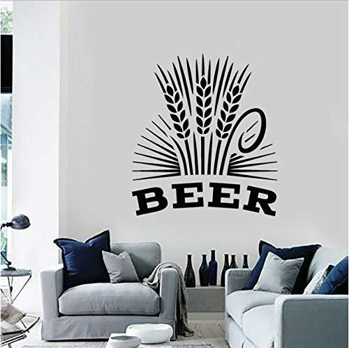Alcohol Drinken Pub Bar Brouwerij Bier Schuim Molen Stickers Vinyl Muursticker Verwijderbare Interieur Decoratie Mural 57X64Cm