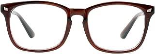 Cyxus Clear Scratch-proof Lens Reading Glasses,Fashion Square Frame Plain Glasses Non-prescription Eyeglasses Unisex