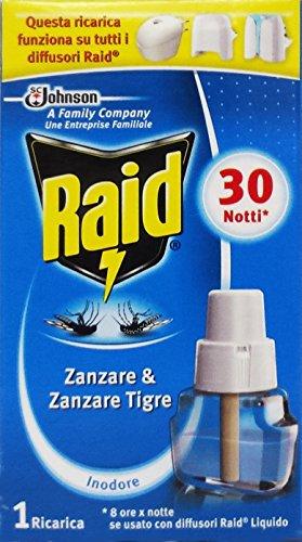 Raid recarga difusor eléctrico insecticida Liq.30 Notti