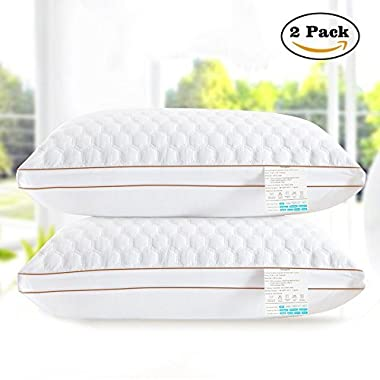beegod Bed Pillows 2 Pack For Better Sleeping, Super Soft & Comfortable Antibacterial & Anti-mite, Best Hotel Pillows, Relief For Migraine & Neck Pain
