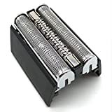 Fesjoy - Cortapelos de afeitar en H de casete compatible con B-Raun 52B Serie 5 5050 5070 5090 5040 5020 (S-Ilver & SchwarzRasierer H-ead casete
