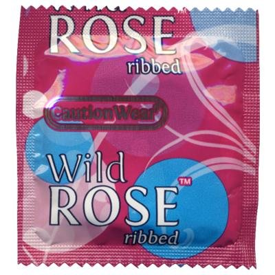 Caution Wear Wild Rose Condoms 100 Bag