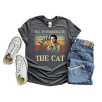 Supernatural Shirt Castiel I ll Interrogate The Cat Shirt Castiel Misha Collins Supernatural Vintage Shirt Supernatu