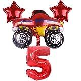 JSJJATF Globos Blaze y The Monster Machines Set de Globos Fiesta de cumpleaños Decoración Feliz Cumpleaños Aluminio Globo Suministros (Color : Style 5)