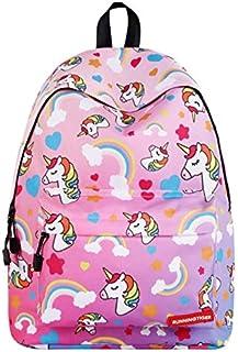 Girl's Cartoon Unicorn Backpack Big Capacity Daypack Casual School Bag