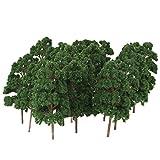[Keine Marke Waren] Baume Baum Modellbaum Bahnanlage wargame N Szene Messer Sammlung Die Modelleisenbahn, Diorama und Architekturmodell-Zug-Modell bis zwanzig 8,5 cm dunkelgrun -