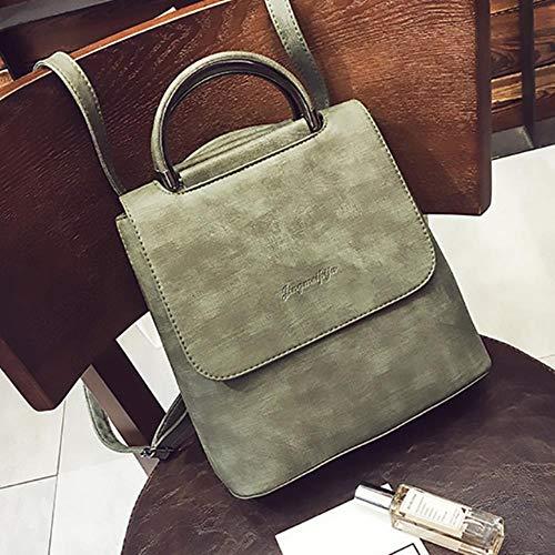ASHX Fashion Frauen Rucksack PU Leder Reisetasche Große Schulranzen Tasche für Teenager Mädchen grün