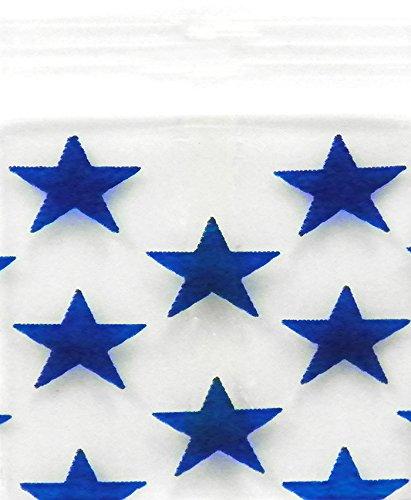 Original Mini Ziplock Reclosable Plastic Bags, Blue Star (1510, 100 Bags)